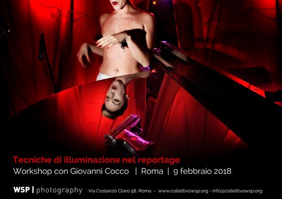 Workshop in tecniche di illuminazione wsp photography