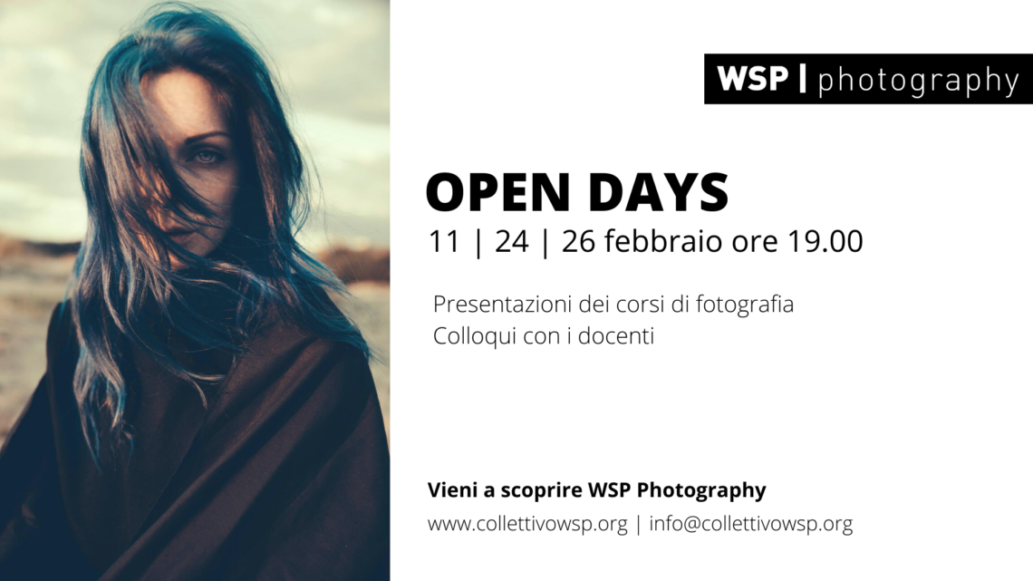 OPEN DAYS 2020 al WSP Photography