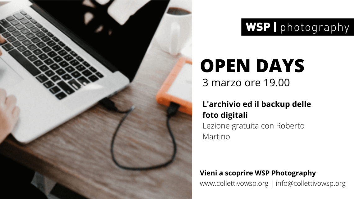 open days archiviazione lightroom
