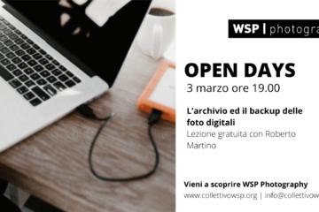 open days archiviazione lightroom